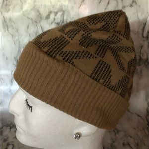 Michael Michael Kors brown monogram beanie